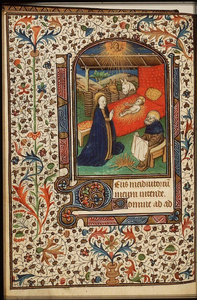 Elkerzee klooster Bethelem joseph droogt de was in Bethlehem, geheel, KB 76 F12, fol 44v