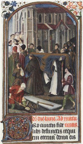 Zierikzee Dominicanen , processie begraven doden, Hendrik Vlll, 15e eeuwse begrafenis bij St. Paul's Cathedral in British Museum, 27697. London