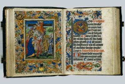 Zierikzee, Driekoningen klooster , Augustijnen, aanbidding der koningen, Ned. getijdenboek, meester Zweder van Culemborg, 1430, KB, fol 33v