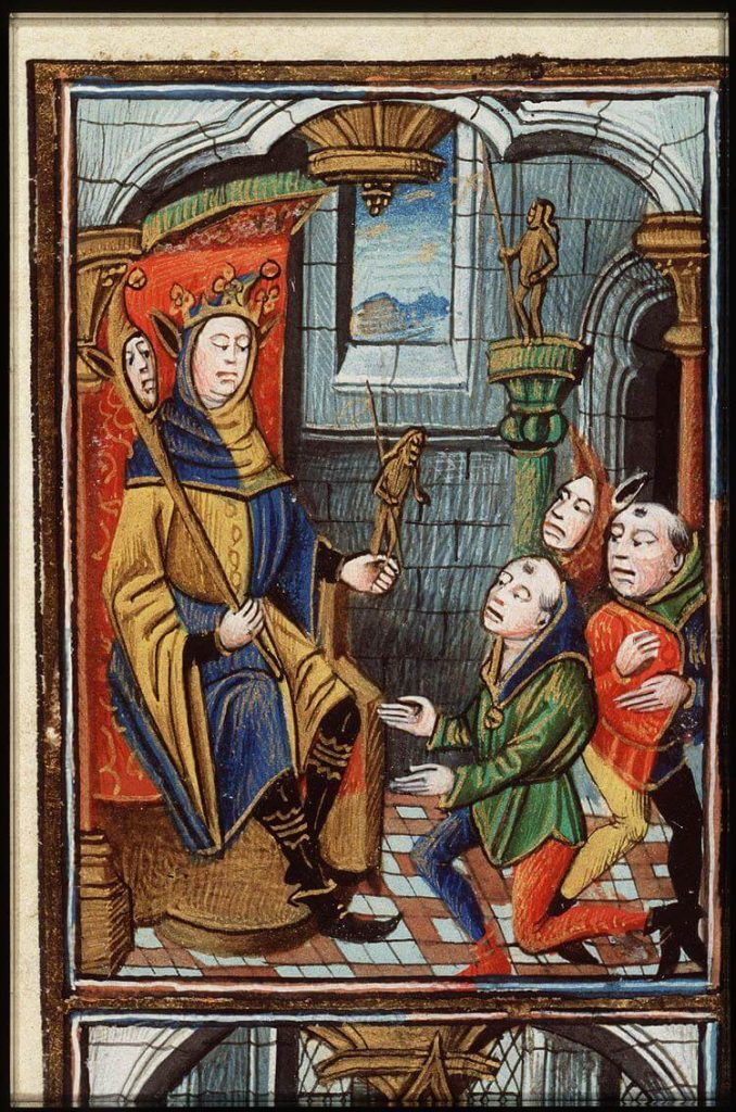 Zierikzee, Franciscanen, Minderbroeders, narrenfeest, fragment uit Frans getijdenboek, KB, 128 C 8, fol 21r