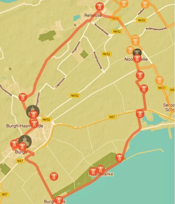 fietsroute Noordwelle_West